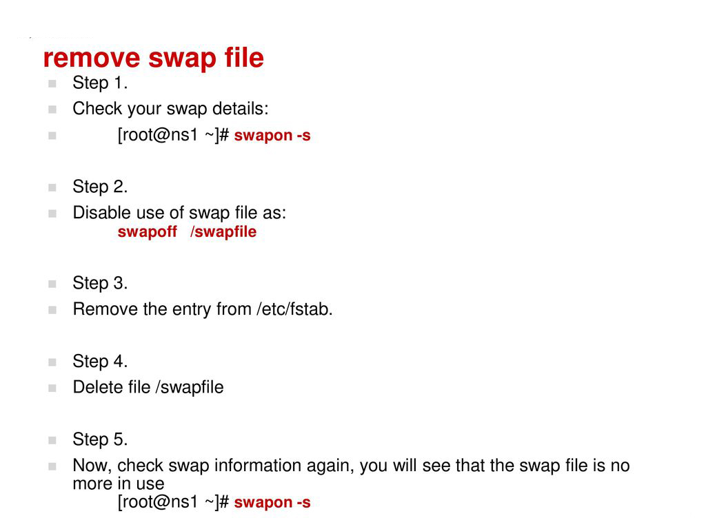 swap usage in linux