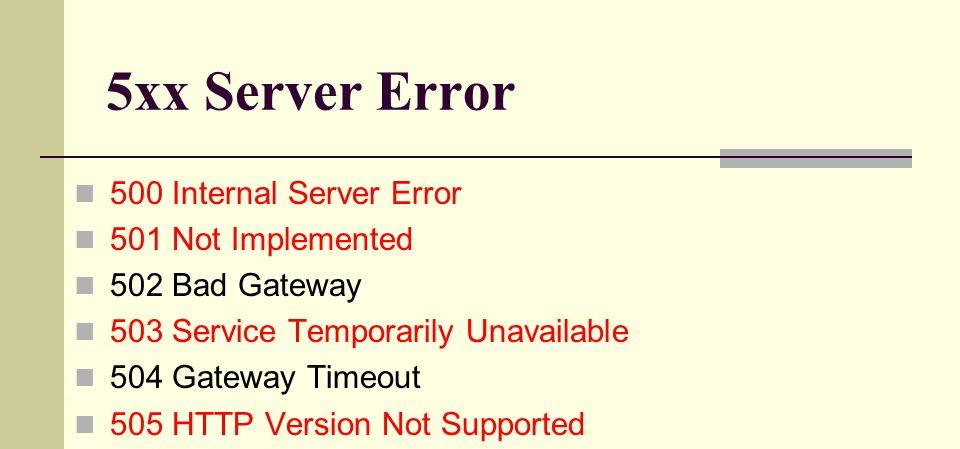 Http server error code 503 | 503 Service Unavailable Error